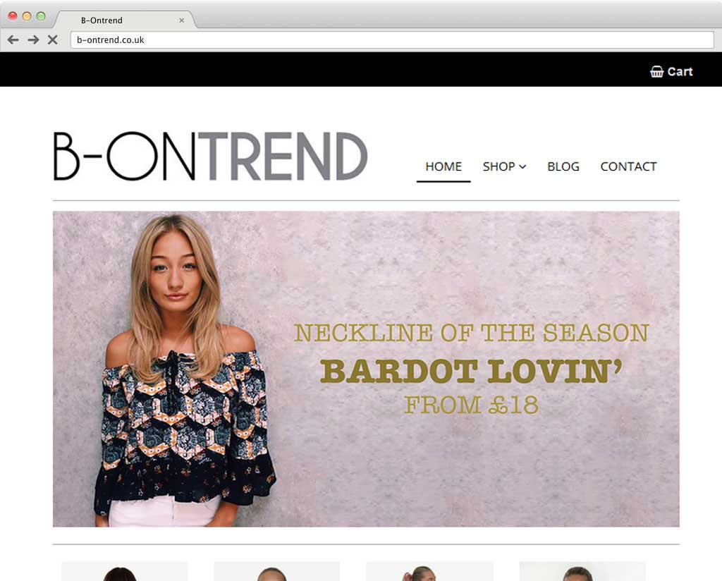 B-OnTrend boutique website
