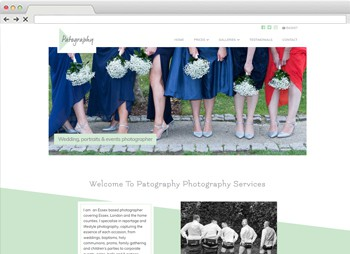 Patography - Photographers Website Design website design