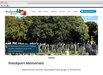 Stockport Memorials - Funeral Memorial and Headstone Website Design website design