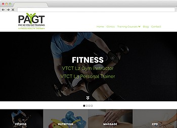 PAYGT Training - Fitness Training Coach Website Design website design