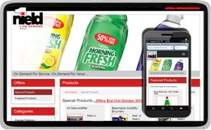 Nield On Demand - Wholesale, Cash and Carry Web Design website design